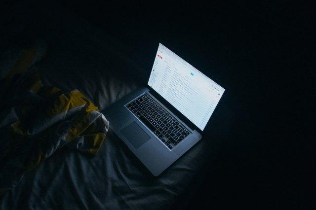 late night computer work