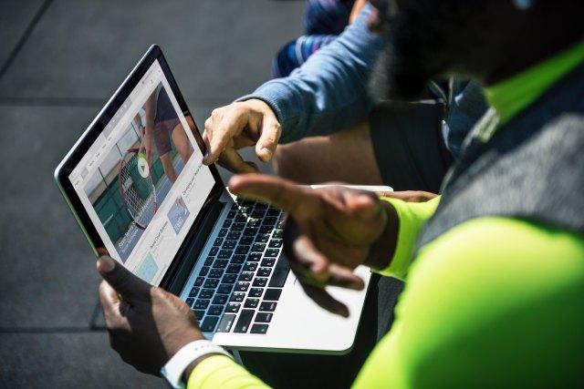 sharing work on computer